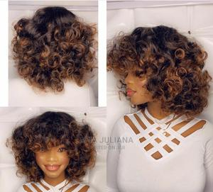Front Fringe Bouncy Curls Wig | Hair Beauty for sale in Greater Accra, Osu