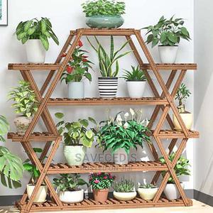 Multi-layer Balcony Household Wooden Flower Pot Rack   Garden for sale in Greater Accra, Achimota