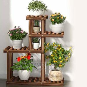 Bacony 3 Tiers Wooden Floor Flower Pots Rack   Garden for sale in Greater Accra, Achimota