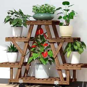 4 Tiers Wooden Flower Rack Plant Stand Multi Flower Stand   Garden for sale in Greater Accra, Achimota