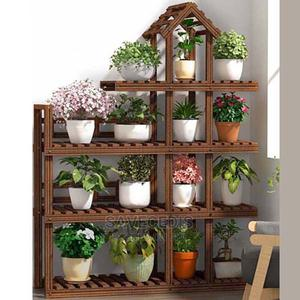 4 Tiers Wooden Multi Flower Stand Shelves /Flower Rack   Garden for sale in Greater Accra, Achimota