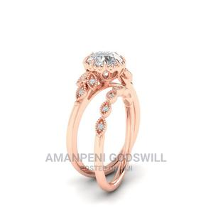 2 Piece Rose Gold Plated Engagement/Wedding Ring- Rose Gold | Wedding Wear & Accessories for sale in Greater Accra, East Legon