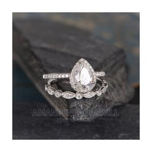 2- Piece Pear Shaped Engagement/Wedding Ring – Silver   Wedding Wear & Accessories for sale in Greater Accra, East Legon