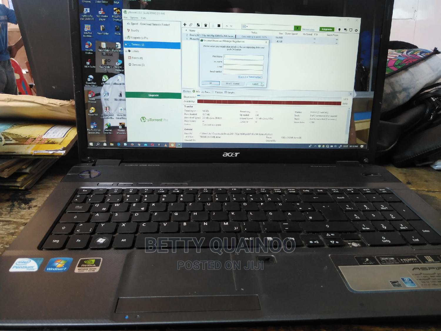 Laptop Acer Aspire 7736ZG 3GB Intel Core 2 Duo HDD 320GB   Laptops & Computers for sale in Accra Metropolitan, Greater Accra, Ghana