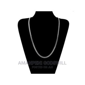 Chain Cuban Stainless Steel Necklace- Silver | Jewelry for sale in Greater Accra, East Legon