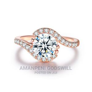 Emerald Cut Zircon Engagement/Promise Ring – Rose Gold   Wedding Wear & Accessories for sale in Greater Accra, East Legon