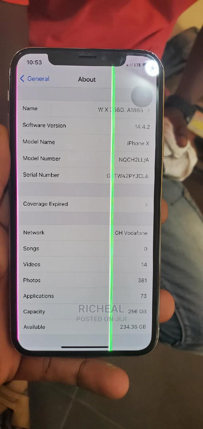 Apple iPhone X 256 GB White | Mobile Phones for sale in Achimota, Greater Accra, Ghana