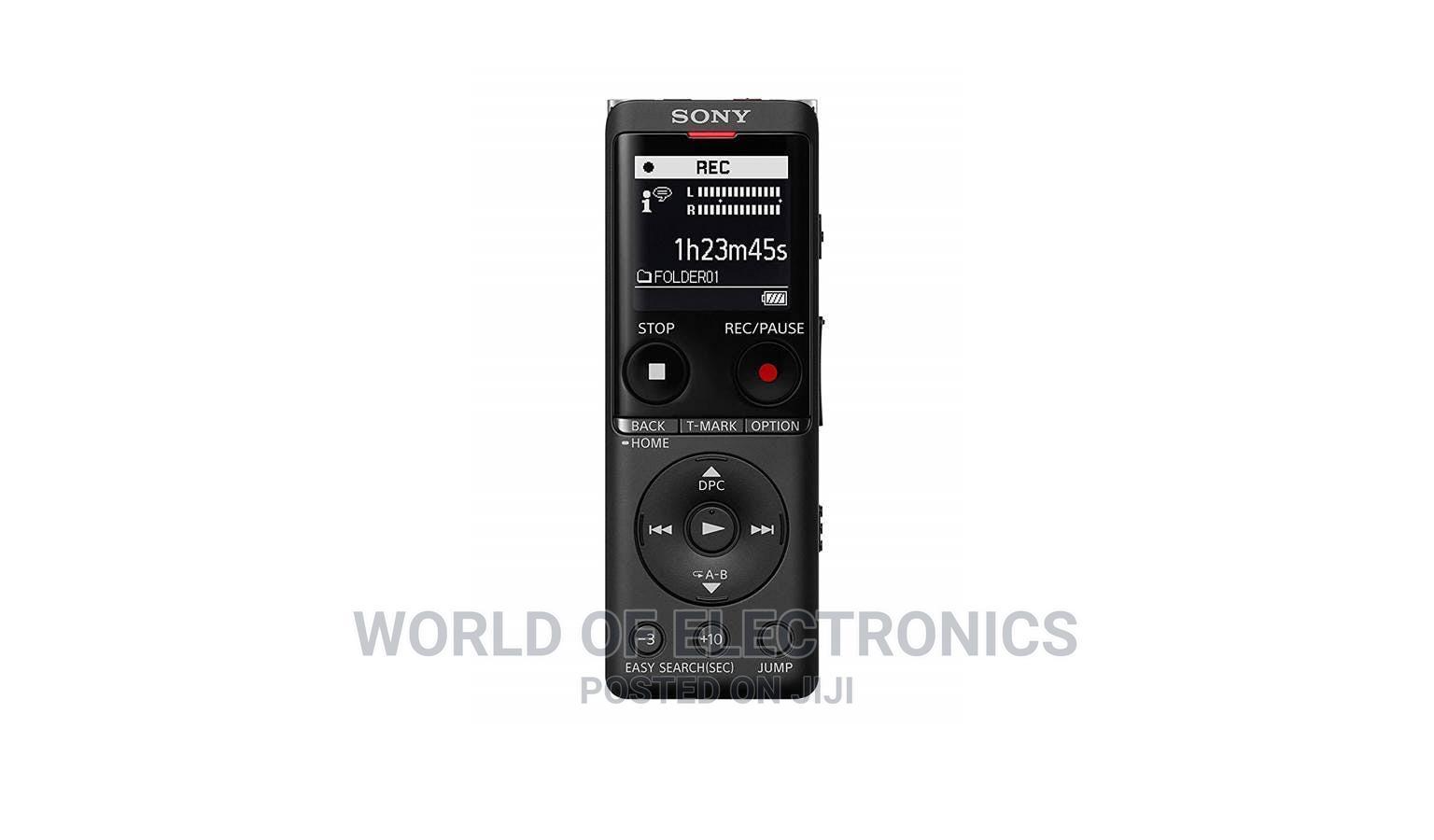 Sony ICD-UX570F/B Digital Voice Recorder - Black