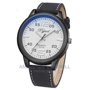 Dgjud Leather Analog Quartz Wrist Watch – White/Black   Watches for sale in Greater Accra, East Legon