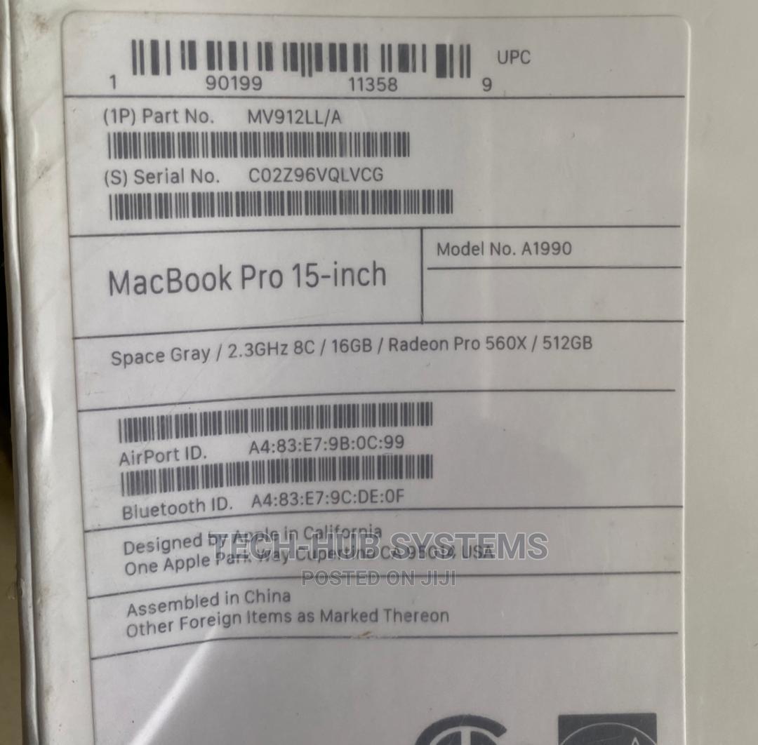 Archive: New Laptop Apple MacBook Pro 16GB Intel Core i9 SSD 512GB