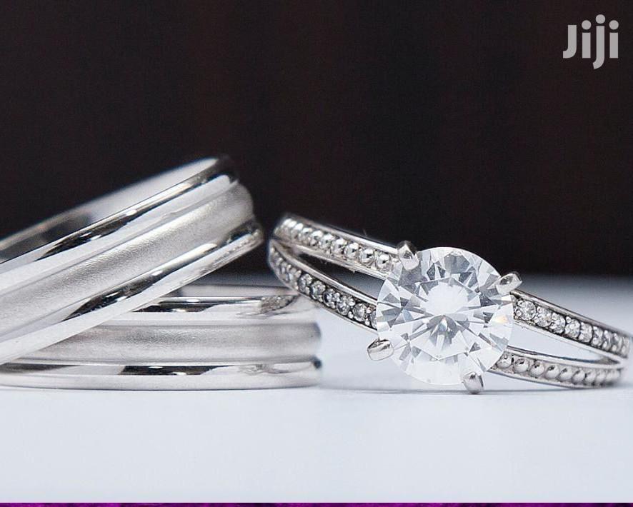 3set Silver Wedding Ring