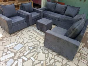 Gray Sofa Set . Fre Delivery | Furniture for sale in Greater Accra, Kaneshie
