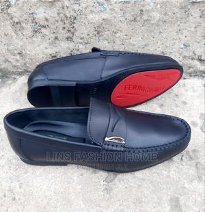 Ferragamo Men's Black Leather Loafers | Shoes for sale in Greater Accra, Ga West Municipal
