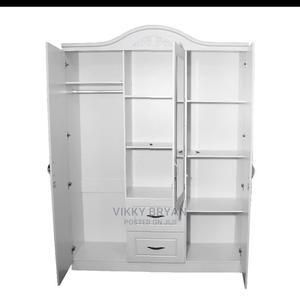 White (3 in 1) Wardrobe | Furniture for sale in Greater Accra, Adabraka