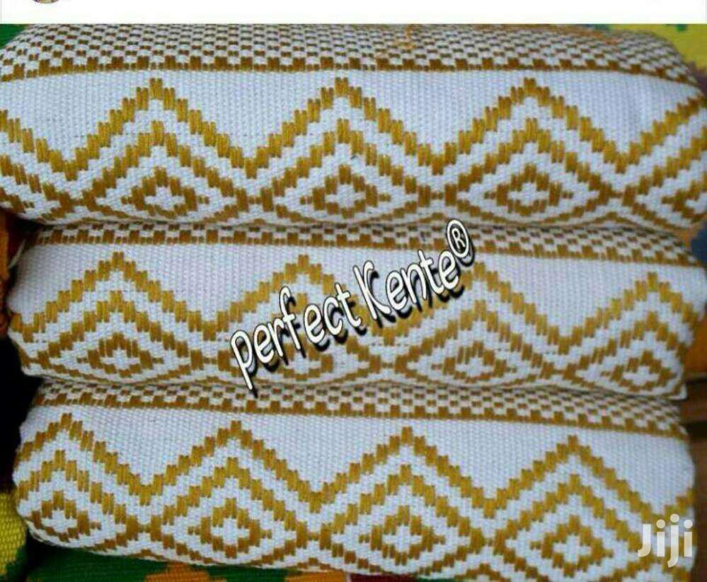 White And Gold Odokwa Kente