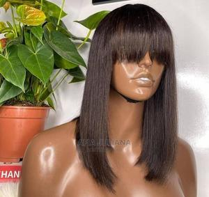 14 Inches Straight Human Hair With Fringe | Hair Beauty for sale in Greater Accra, Osu