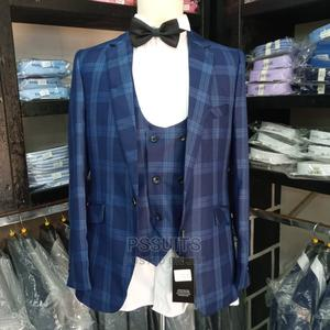 Checked Blue Suit   Clothing for sale in Greater Accra, Cantonments
