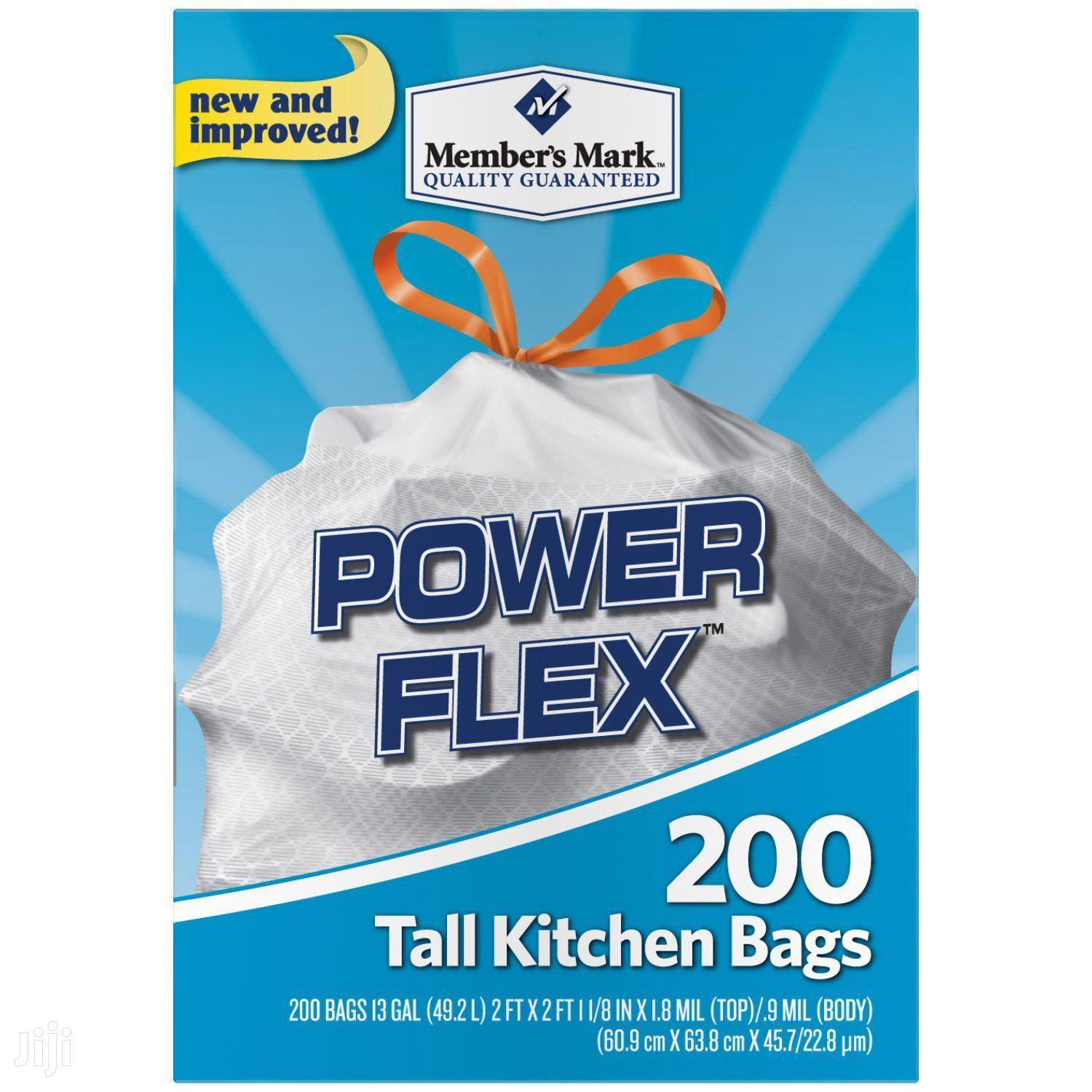 Archive: Member's Mark Power Flex Tall Kitchen Drawstring Trash Bags, 200ct
