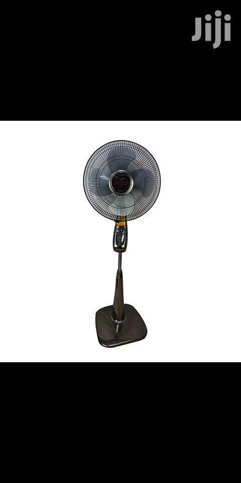 Mikachi Standing Fan With Remote Control – 16′′ Grey