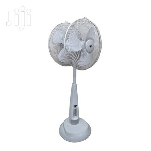 """YD Dual Head Rechargeable Standing Fan 16"""""""