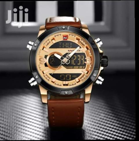 Naviforce 9097 Leather Watch