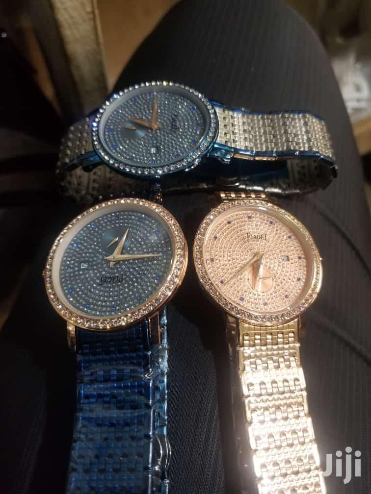 Piaget Diamond Stainless Steel Watch.
