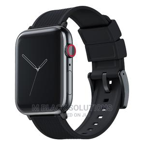 Black Silicon Apple Watch Band 44mm   Smart Watches & Trackers for sale in Greater Accra, Osu