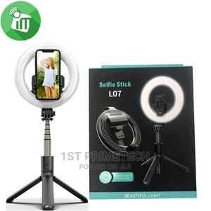 L07 Ring Light Foldable Wireless Selfie Stick Tripod | Accessories for Mobile Phones & Tablets for sale in Greater Accra, Ga East Municipal