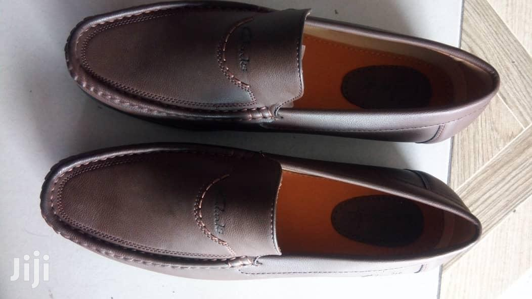Clarks Mens Loafers-Brown