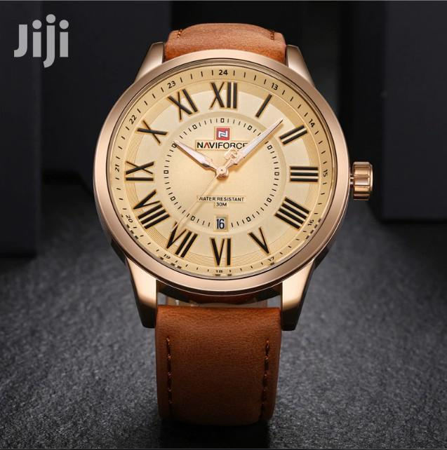 Brown Leather Naviforce Watch