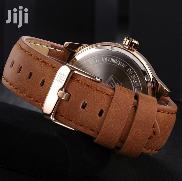 Brown Leather Naviforce Watch | Watches for sale in Akweteyman, Greater Accra, Ghana