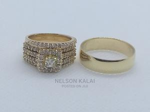 14k Gold Engagement And Wedding Ring Set | Wedding Wear & Accessories for sale in Greater Accra, Ga East Municipal