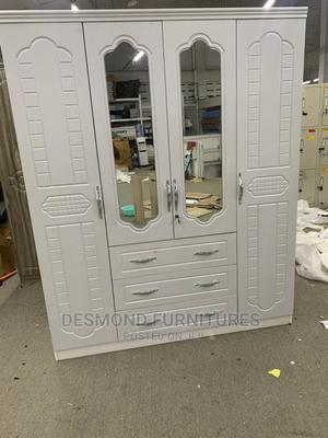 Four Doors Wardrobe With a Mirror | Furniture for sale in Greater Accra, Tema Metropolitan