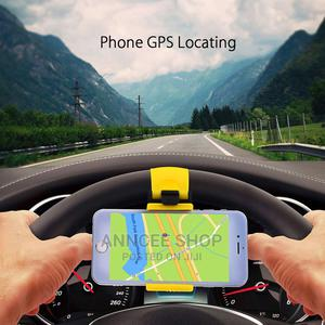 Car Phone Holder Stand Steering Wheel Bike Clip Mount Rubber   Vehicle Parts & Accessories for sale in Greater Accra, Anyaa