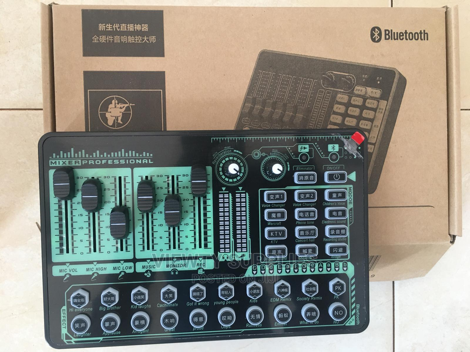 External Studio Sound Card for Recording and Live Streaming
