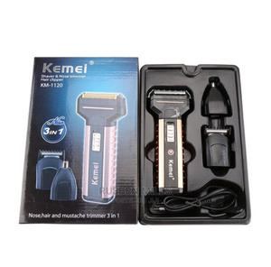 Rechargeable Beard Trimmer Hair Clipper Kemei KM-1120 3 in 1 | Tools & Accessories for sale in Greater Accra, Kwashieman