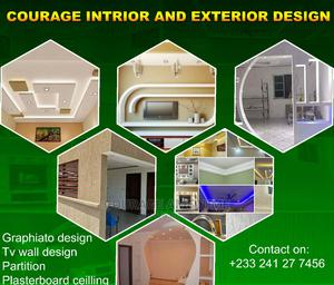 Plasterboard Ceiling and Tv Wall Designs | Building & Trades Services for sale in Greater Accra, Dzorwulu