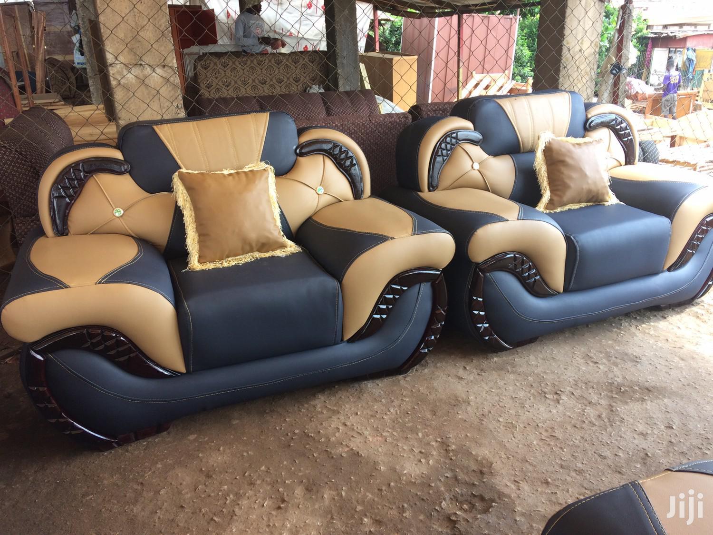 Leather Sofa Furniture | Furniture for sale in Kumasi Metropolitan, Ashanti, Ghana