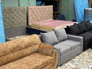 Gray 2in1 Sofa. Free Delivery  | Furniture for sale in Greater Accra, Accra New Town