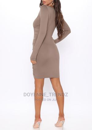 Ruched Long Sleeves Bodycon Dress | Clothing for sale in Greater Accra, Ga East Municipal