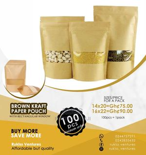 Brown Pouches for Packaging Cereals   Meals & Drinks for sale in Central Region, Awutu Senya East Municipal