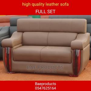 Quality Leather Sofa Chairs Full Set | Furniture for sale in Ashanti, Kumasi Metropolitan