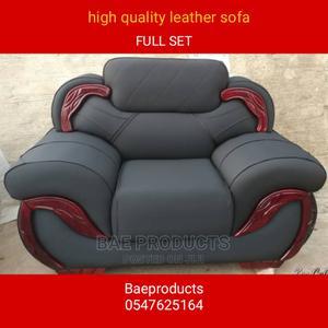 Full Set Quality Leather Sofa Chairs | Furniture for sale in Ashanti, Kumasi Metropolitan