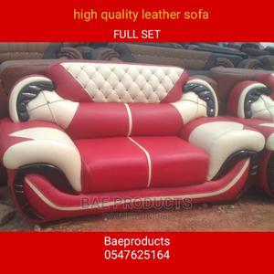 Full Set of Leather Sofa Chairs | Furniture for sale in Ashanti, Kumasi Metropolitan