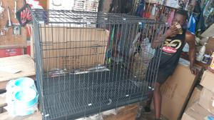 """38"""" Metallic Dog Cage 