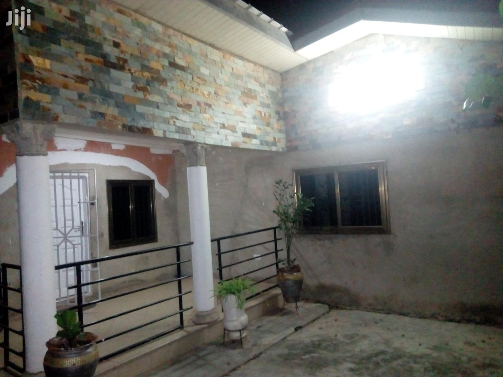 Archive: 2 Bedroom Self Compound for Rent at Pokuase Fise 1100gh 1yr 2washroom