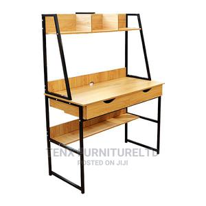 Computer Desk Wooden Light Brown   Furniture for sale in Greater Accra, Achimota
