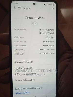 New Samsung Galaxy A52 128 GB Black | Mobile Phones for sale in Ashanti, Atwima Nwabiagya