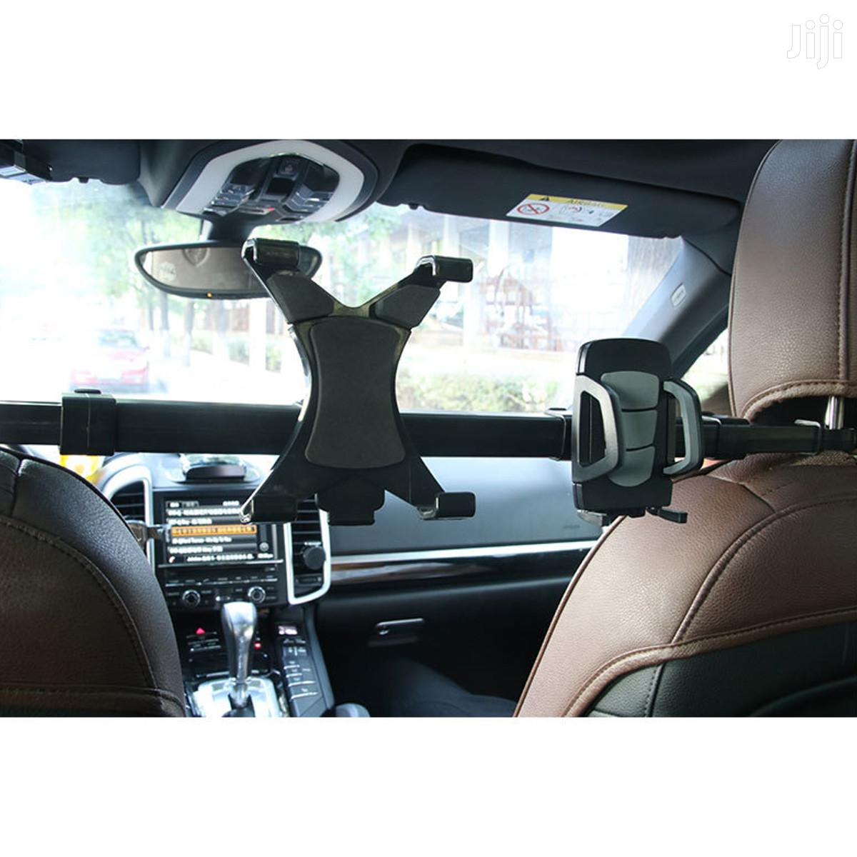 Universal Dual Car Back Seat Headrest Holder Phone N Tablet   Accessories for Mobile Phones & Tablets for sale in Achimota, Greater Accra, Ghana
