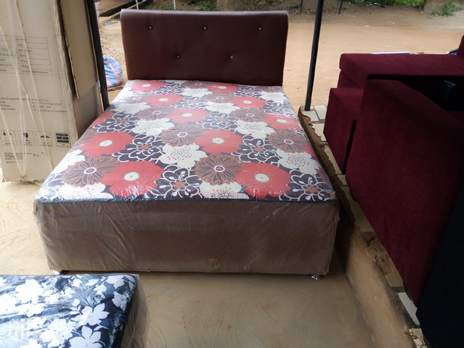 Quality Double Leather Bed